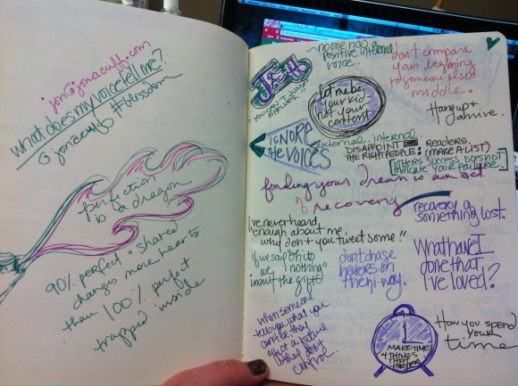 my version of notes from Jon Acuff's (author of QUITTER) compelling presentation at Blissdom
