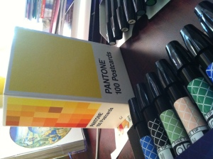 pantone cards and markers