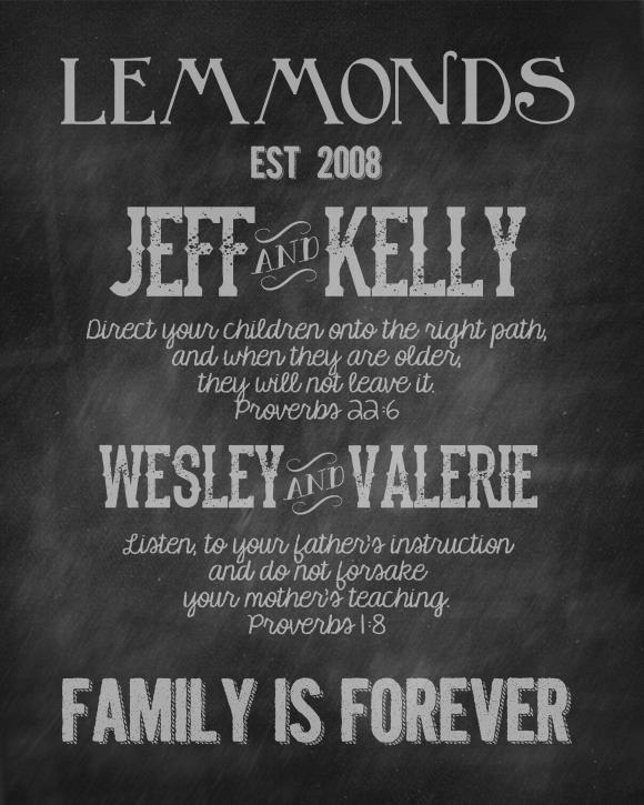 family christmas poster