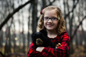 blaikie with a bear, by joshua clark photography