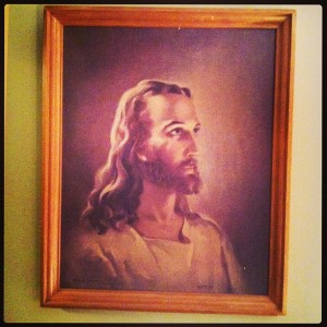 1960 print of Jesus.