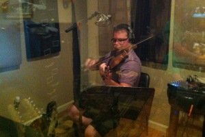 Jim VanCleve playing fiddle ... heaven