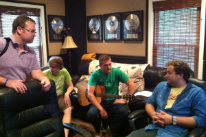 charting before recording our new worship song, You are Good. Jim VanCleve, Josh Brown, Perry Miears, Jeremy Brown